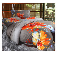 Cotton Active floral printing Quilt Duvet Sheet Cover Sets  Size 41