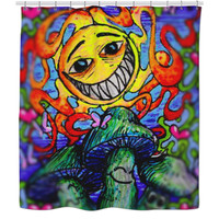 Limited Smileys Shower Curtain