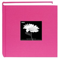 Pioneer 200 Pocket Fabric Frame Cover Photo Album, Bright Pink