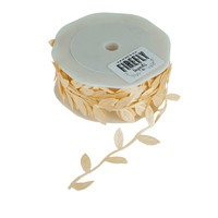 Polyester Leaves Garland Ribbon, 10-yard, Ivory