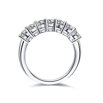 Arienne .38CT Petite Cathedral Pavé Band Sterling Silver IOBI Simulated Diamond Ring for Women