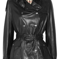 Burberry Brit | Double-breasted leather jacket | NET-A-PORTER.COM
