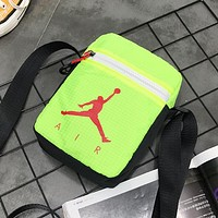 NIKE Jordan New fashion people letter print couple shoulder bag Green