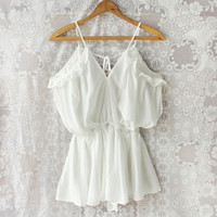 The Drifter Romper in White