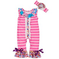 CONICE NINI New Arrival Newborn Rompers Toddler Baby Girl Striped Jumpersuit Rompers Cotton Outfits Clothes 0-24M Clothing R043