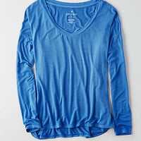AEO Soft & Sexy Drop Shoulder T-Shirt, Cobalt Blue