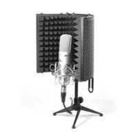 Compact Microphone Isolation Shield, Studio Mic Sound Dampening Foam Reflector