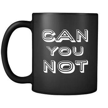 Introverts Can You Not 11oz Black Mug