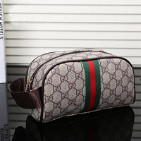 Gucci Women Fashion Leather Zipper Travel Portable Mini Cosmetic Bag