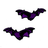 Purple Vampire Bats Iron On Patch True Blood Twilight Applique