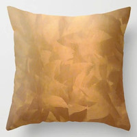 """Google Express - Brushed Copper Metallic - Beautiful - Rustic Glam ... Throw Pillow - Indoor Cover (16"""" x 16"""") with Pillow Insert by Corbinhenry"""