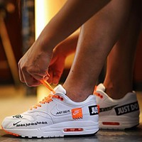 Nike Air Max 1 Just Do It men and women air cushion couple running shoes F0719-1 White