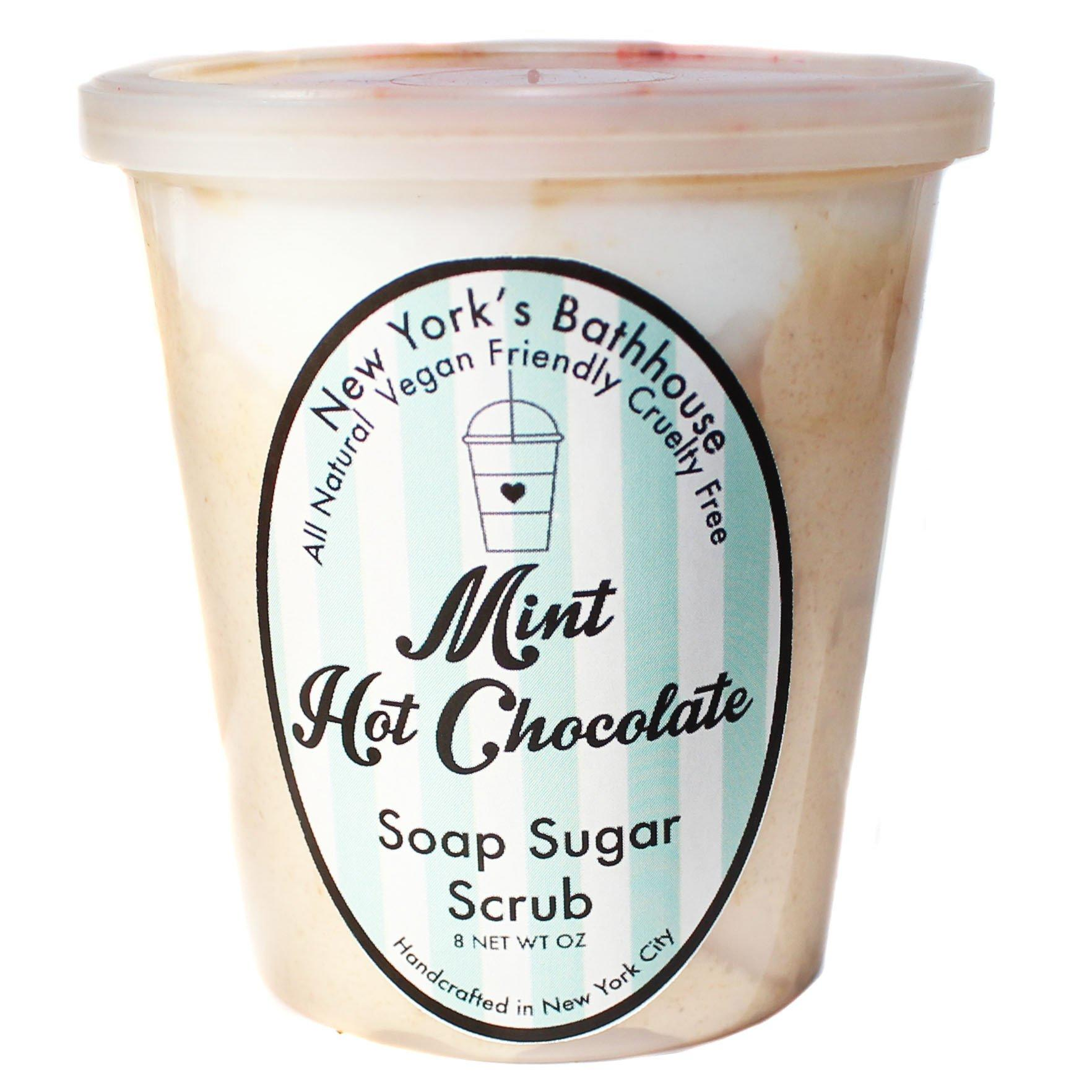 Image of Mint Hot Chocolate Whipped Soap Sugar Scrub