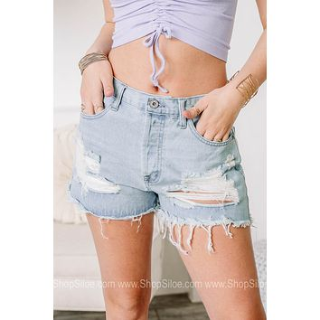 Keeping Things Casual Distressed Shorts