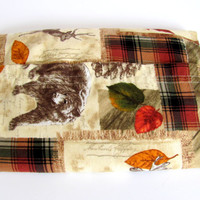 Forest Animals Cordless Microwave Heating Pad or Bedwarmer For Pets or People, Use Hot or Cold, Scented or Unscented, Washable Cover