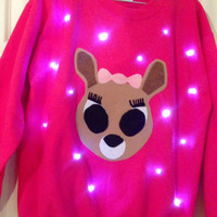 Light-up ugly Christmas sweater! - Clarice