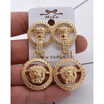 VERSACE Stylish Women Retro Pendant Earrings Accessories Jewelry