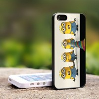 Despicable Me The Minions - For iPhone 4,4S Black Case Cover