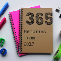 365 Memories from 2017 - 5 x 7 journal