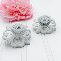 One Shabby Chic Knob In Your Color Choice - Drawer Pulls - Dresser Pulls - Furniture Knobs