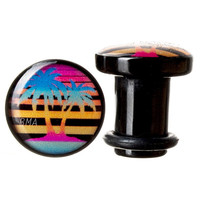 Neon Palm Trees BMA Plugs (2mm-60mm)