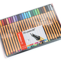 Stabilo Point 88 Fineliner Marker Pen - 0.4 mm - 25 Color Set - Wallet - JetPens.com