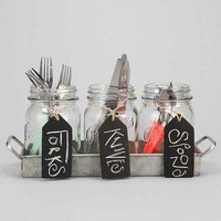 Mason Jar Utensil Holder Set