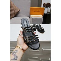 lv louis vuitton women casual shoes boots fashionable casual leather women heels sandal shoes 80