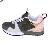 LV tide brand men and women models simple retro wild mesh breathable sneakers shoes #6
