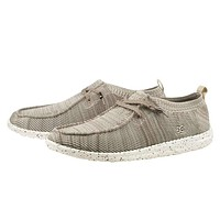 Wally Knit Shoe in Beige by Hey Dude