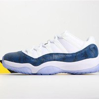 Air Jordan 11 Retro Low 'Navy Blue Snakeskin' DCCK