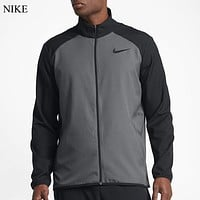 NIKE Fashion New Hook Women Men Long Sleeve Coat Gray