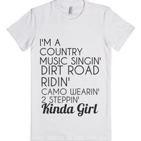 kinda girl-Female White T-Shirt