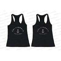 Best Friend Summer BFF Tank Tops California Pacific Coast Huntington Beach