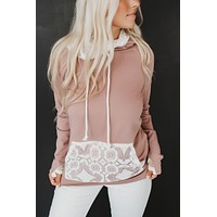 At Your Best Lace Double Hoodie (Mauve)