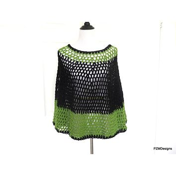 Plus Size Crochet Poncho