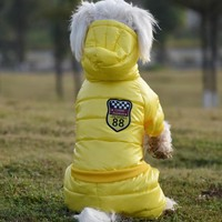 2016 New Waterproof Fabric Dog Coat Winter Large Size Pet Dog Clothes Thickening Dog Down Jacket Clothing For Pet Dogs Costume