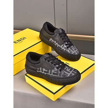 FENDI2021 Men Fashion Boots fashionable Casual leather Breathable Sneakers Running Shoes08030yph