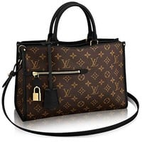 Louis Vuitton Monogram Canvas Popincourt MM Tote Handbag Noir Article: M43435 Made in France