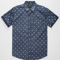 Shouthouse Amoeba Mens Shirt Navy  In Sizes