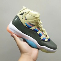 [ Free  Shipping ]Air Jordan 11  Multicolor Basketball Shoes