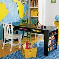 Kids' Play Table: Kids Espresso Play Table with Side Bin in Play Tables   The Land of Nod
