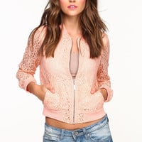 CROCHET BOMBER JACKET