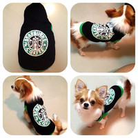 Starbuck hoody,, dog clothing , pets , sweater