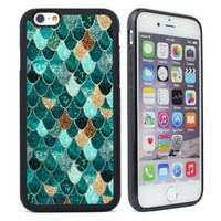 Cute Mermaid Pattern Silicone Rubber Case for iPhone 4 4s 5 5s 6 6s Plus Cover