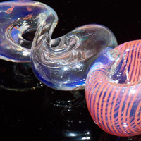 FREE SHIPPING Split Chamber Twist Smoking Pipe for Tobacco Smoke Silver Fumed Color Changing Glass Spoon Bowl Clear Blue Red Swirls