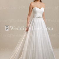Strapless A-Line Organza Wedding Gown