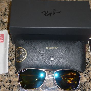 Cheap Ray-Ban Sunglasses RB3543 112/A1 Matte Gold Blue Polarized Flash RB-3543 59mm