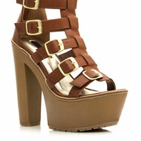 Gimme Five Chunky Faux Wood Platforms
