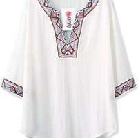 Flimsy Embroidered Blouse - OASAP.com